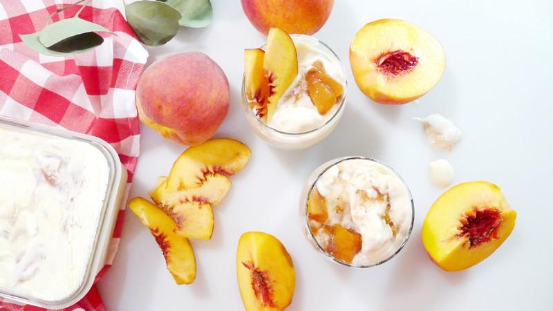 No Churn Homemade Peach Ice Cream Recipe Dessert Vanilla Instaomss Nomss vancouver food blog