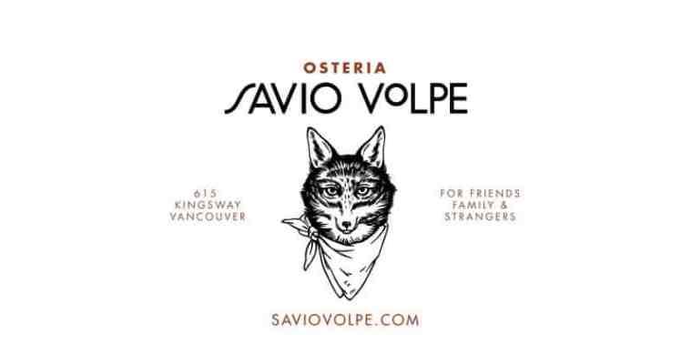 Osteria Savio Volpe Vancouver | Italian Taverna opening soon to Fraserhood