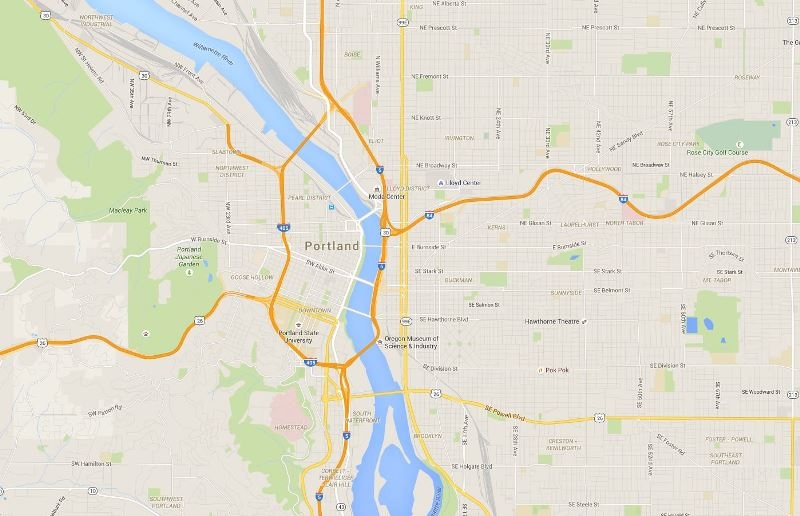 portland oregon map 10 Things You Need To Know About Portland