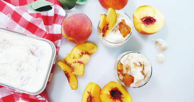 Summer Roasted Peach Ice Cream Recipe