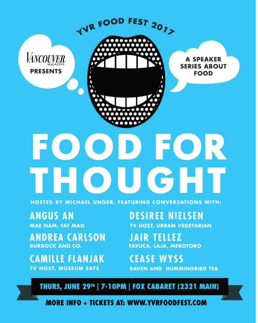 food for thought YVR Food Fest Nomss.com