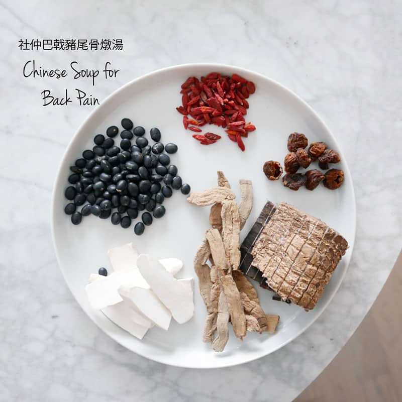 CHINESE SOUP FOR BACK PAIN RECIPE 社仲巴戟豬尾骨燉湯