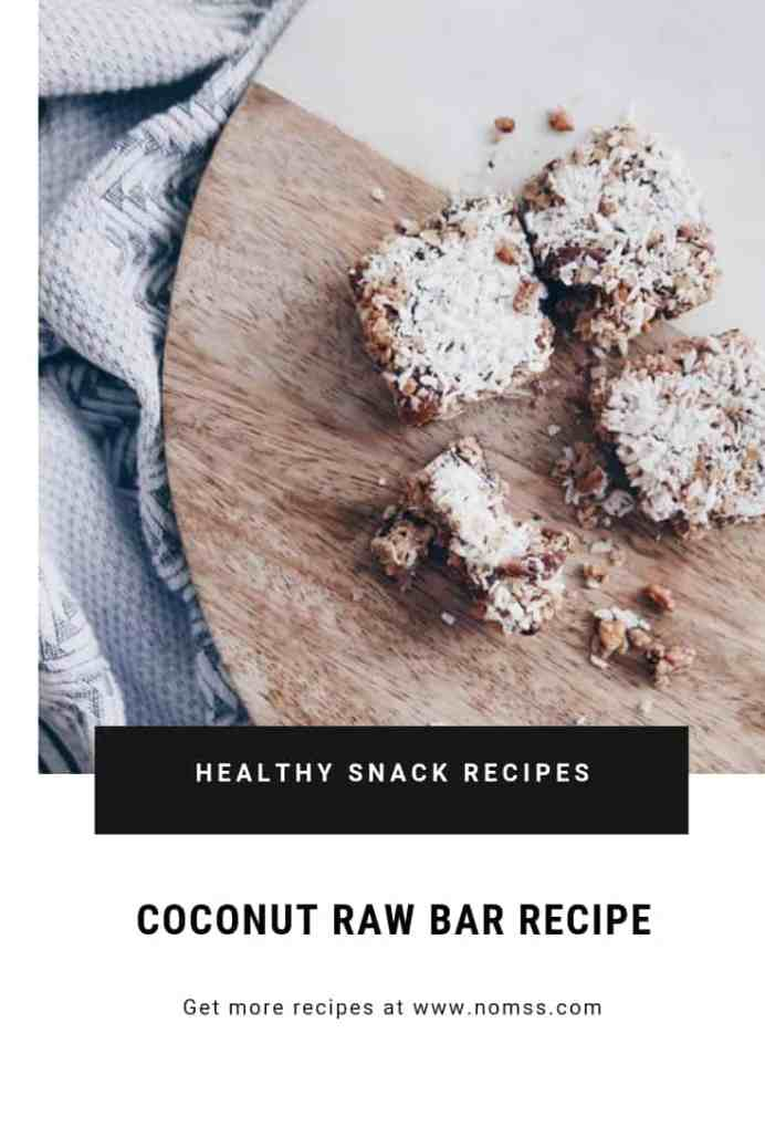 The BEST coconut RAW BAR RECIPE | Vegan Gluten free GRANOLA RAW BAR RECIPE SONGOFSTYLE NOMSS.COM FOOD BLOG