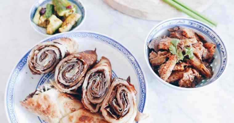 InstantPot Taiwanese Green Onion Beef Rolls Recipe | 牛肉捲餅