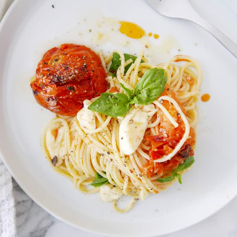 Roasted Tomato Pasta With Creamy Burrata Recipe
