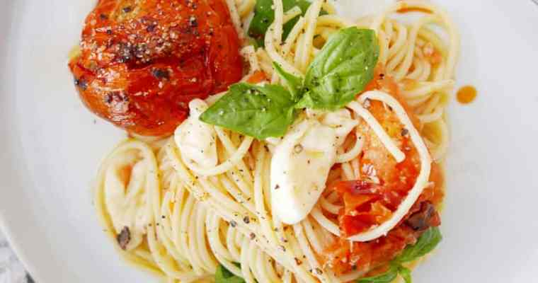 Roasted Tomato Pasta With Creamy Burrata Recipe