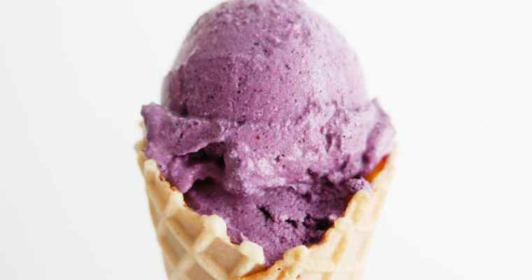 Blueberry Lemon Zest Coconut Milk Ice Cream | Vegan + Gluten-Free