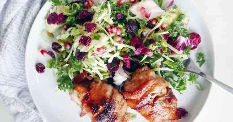 Bacon Wrapped Turkey Thighs   Easy Oven Recipe
