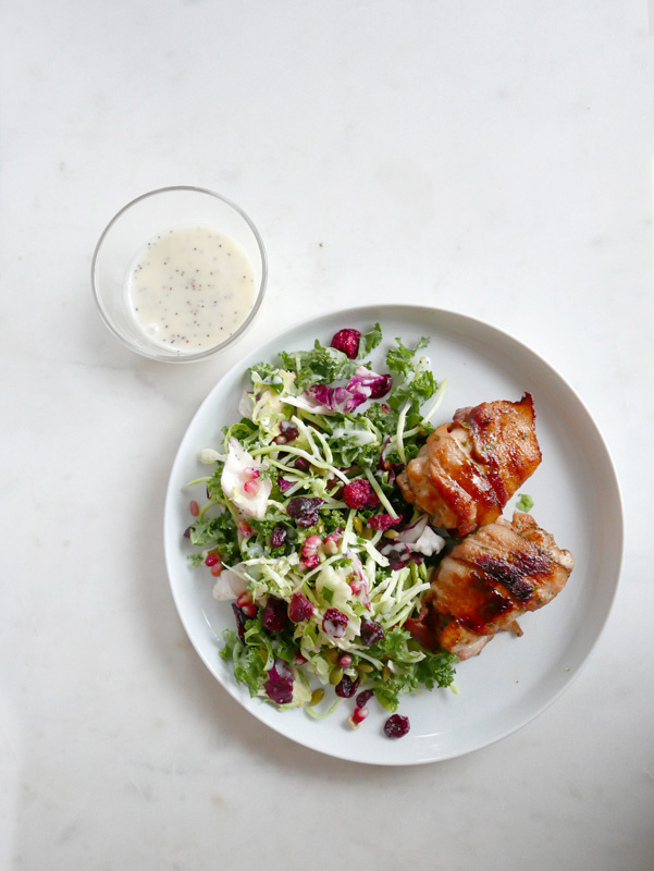 BACON WRAPPED TURKEY THIGHS FRISEE SALAD POPPYSEED DRESSING NOMSS.COM CANADA FOOD BLOG #turkeyrecipes #baconrecipes #ketorecipes #instamomss #friseesalad #saladdressingrecipe #turkeythighs