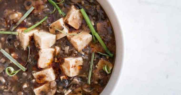 Not So Spicy Vegan Mapo Tofu 麻婆豆腐