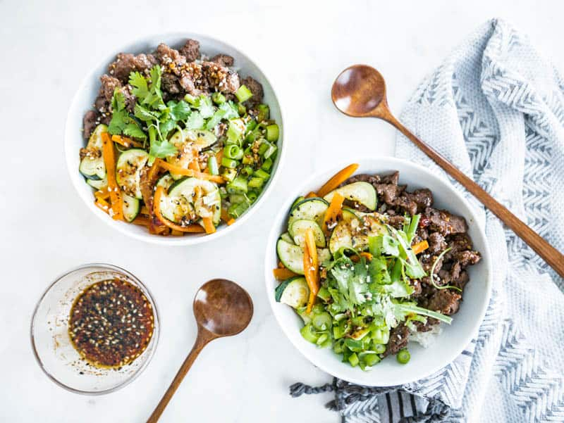 Bibimbap Rice Bowl and Spicy Sesame Sauce with Hello Fresh