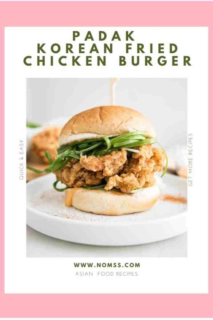 padak korean fried chicken burger