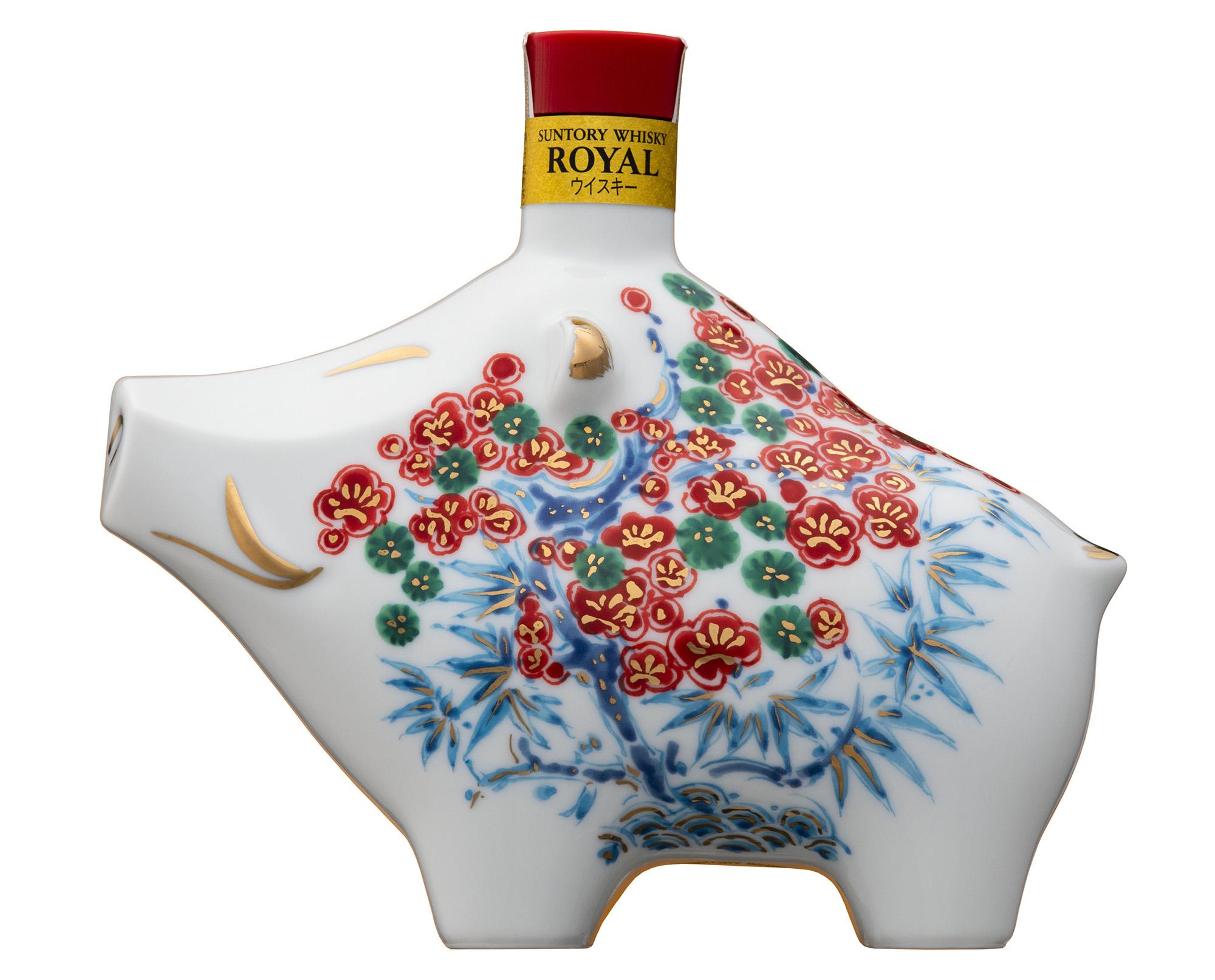 2019 Year of the Boar bottles of Suntory Whisky Royal, Suntory Old Whisky