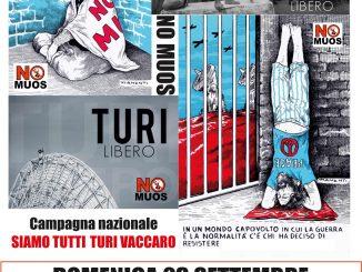 Locandina Campagna No Muos TuRi Vaccaro libero