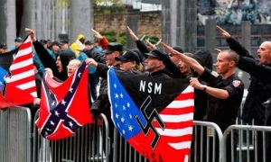 Somewhere in America: a Nazi rally