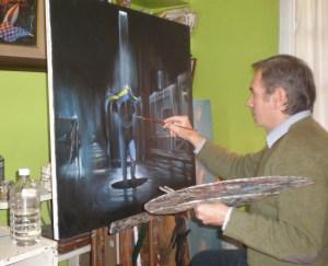 Pintor argentino é conhecido por pintar momentos do futebol latino-americano