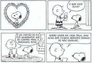 Uma das tantas tiras envolvendo a Garotinha Ruiva (Crédito: Peanuts Tiras)