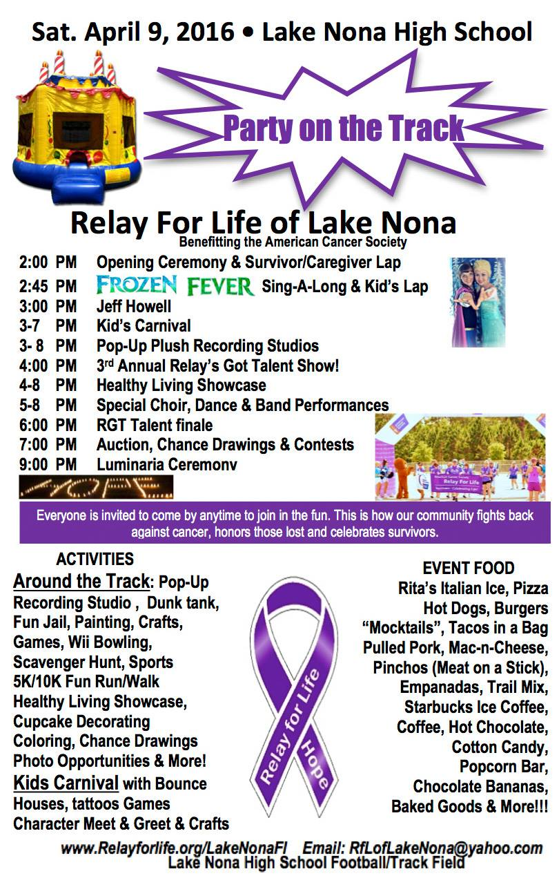 relay for life this week in lake nona u2022 nonahood news