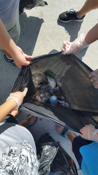Some of the litter removed from Lake Nona!
