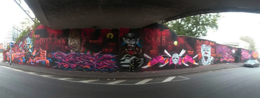 Graffito horror Milano