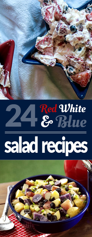 Red White and Blue Salads | NoNightlights.com