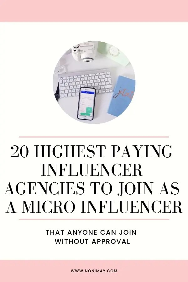 20 highest paying influencer agencies to join as an Instagram influencer #influencer #instagram #bloggers #finance #monetizing #monetize #brands #money #personalfinance #business #entrepreneur