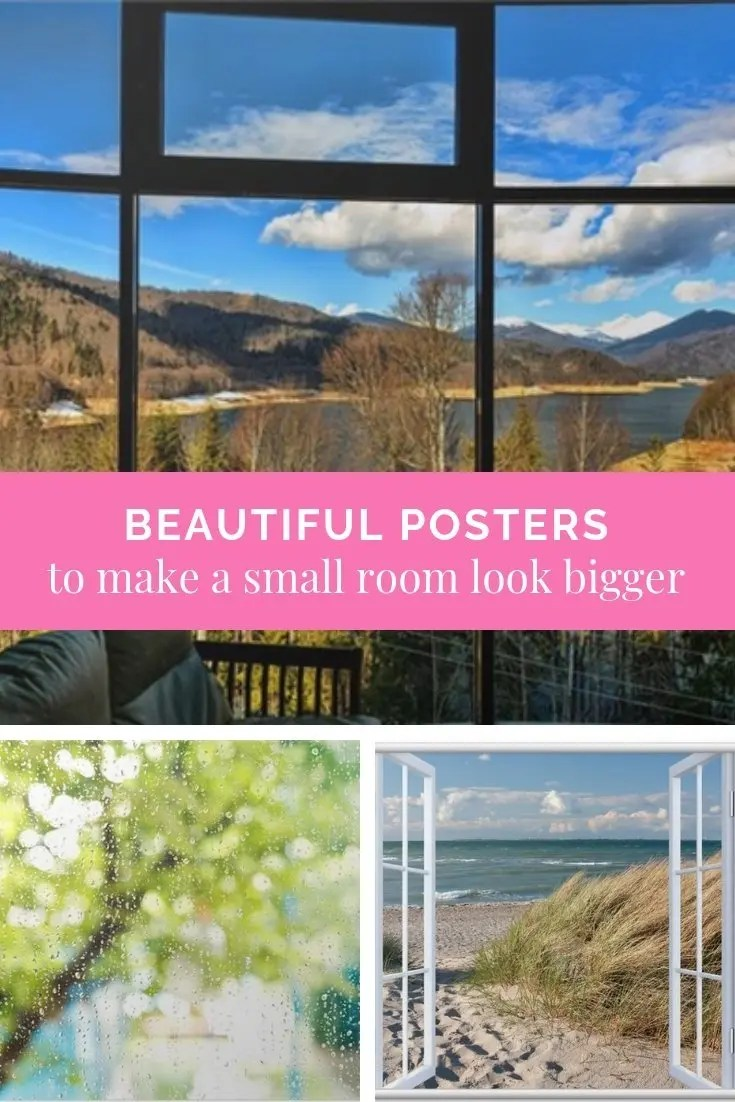 Beautiful posters to make a small room look bigger