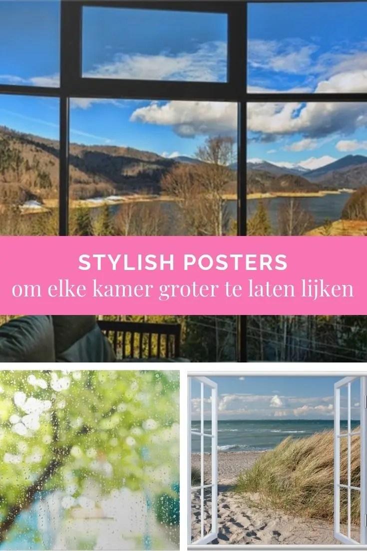 Stylish posters om elke kamer groter te laten lijken