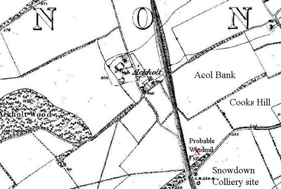 The Acol, or Ackholt, area, 1870's OS map