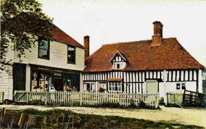 The Old Court Hill Stores, now Farthingales, circa 1910