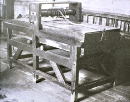 The washing mangle in the Holt Street laundry.