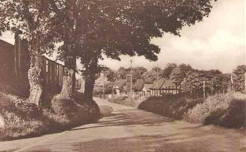 A 1950's view of Holt Street from the cross-roads, the old telephone exchange is the first building on the right