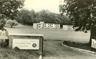 The main entrance to the college on Sandwich Road, there was a letter-box just inside the gate.