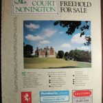 1985, the Country Life advert for the sale of the college estate.