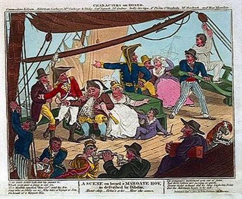 A scene aboard the Margate hoy