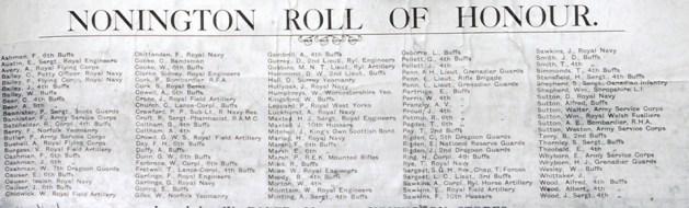 WW1-Nonington-Roll