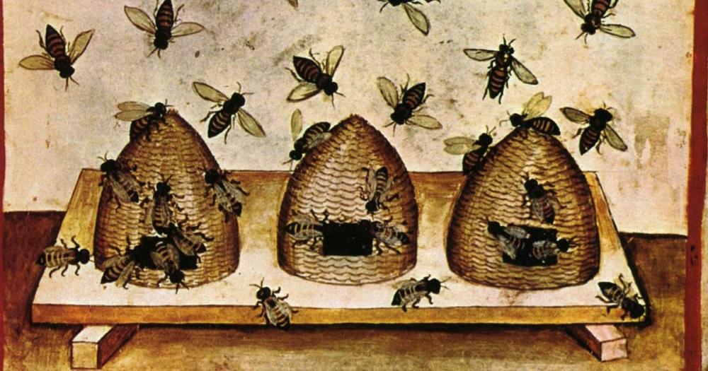 Medieval bee skeps