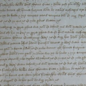 """William Boys and the Fredville purchase. It has been held for several centuries by Thomas Philpott, Edward Hasted, and other historians, that a feet of fines dating from July of 1484 recorded the purchase by John Nethersole, William Boys, Thomas Butte and Robert Gerveis of : """"The manors of Fredeuyle and Beauchamp' and 2 messuages, 405 acres of land, 3 acres of wood and 76 shillings and 4 pence of rent and a rent of 8 cocks, 30 hens and 1 pair of gloves in Nonyngton' and Godneston'"""" from Thomas and Anne Quadryng'. However, this feet of fines was actually a legal manoeuvre to settle a court case to recover possession of the aforementioned properties which had in fact been purchased by John Nethersole and associates from the Quadryngs at some time shortly before the death of King Edward IV in April of 1483. These recovered properties then came into the sole possession of William Boys in 1485. A manor was a fiscal and legal entity, not a physical one, so that the purchase of """"the manors of Fredeuyle and Beauchamp'"""" did not actually involve the acquisition of land but the acquisition of the lordship of these two manors. This acquisition entitled the holder of these lordships to certain manorial rights, revenues, rents and fines. A messuage at this time was a high status dwelling-house, and the grant of a messuage with its appurtenances not only transferred the house, but also all the buildings attached or belonging to it, along with its curtilage, garden and orchard and the close [surrounding land] on which the house was built. One of the two messuages referred to in the purchase was the Esol [Esole] manor house at Beauchamps, and the other messuage referred to in the purchase is most likely to have been on the site of the present Holt Street Farm house. Where was the Manor of Fredeuyle? Edward Hasted, in his """"The History and Topographical Survey of the County of Kent"""" stated that after the purchase William Boys """"removed thither"""" to Fredville and made it his main residen"""