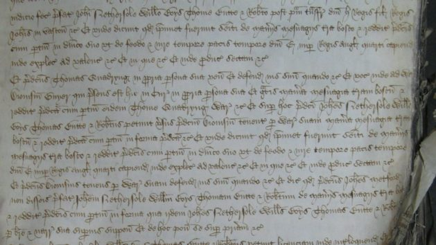 "A contemporary record of the legal proceedings to regain possession of""the manors of Fredeuyle and Beauchamp'"