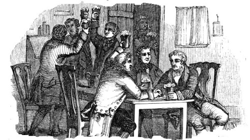 Georgian pub drinkers