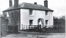 Church House, once The White Horse alehouse. In the 1830's it became the home of the Morgan family who were blacksmiths and vets. In the 1930's it became the village dairy owned by Abbot Bros.