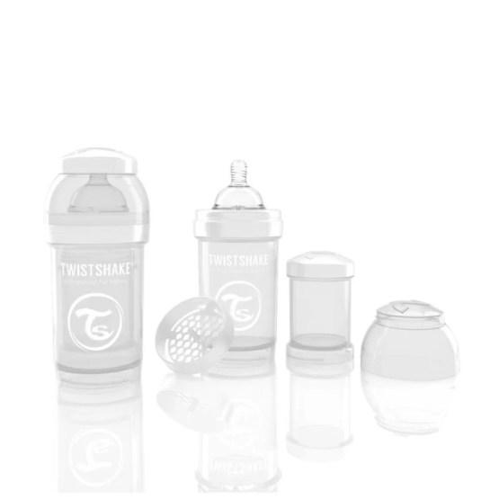 Biberon Twistshake Anti – Colici 180 ml Alb