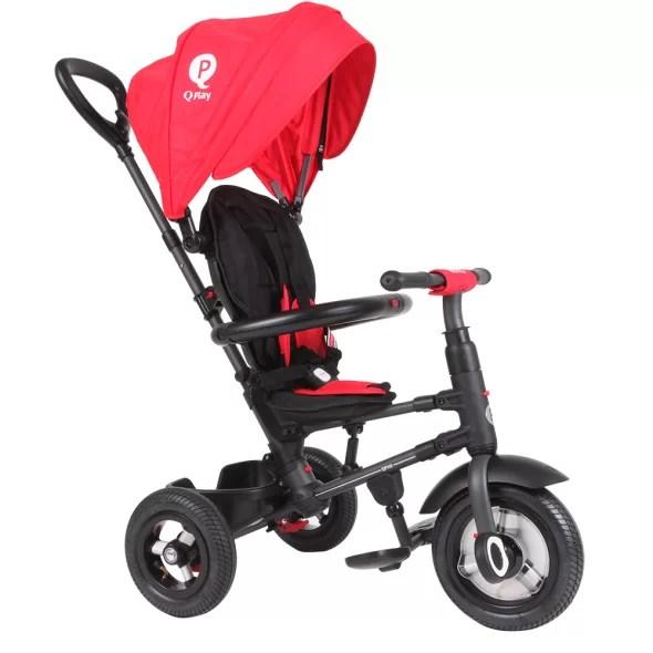 Tricicleta-cu-roti-gonflabile-de-cauciuc-Qplay-Rito-AIR-Rosu-7