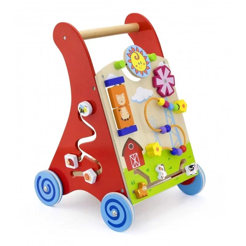 Antemergator rosu cu activitati tip Montessori