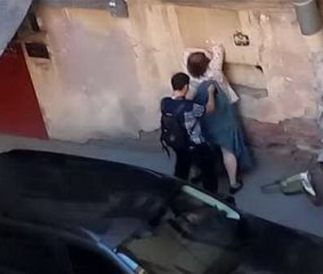Big Butchers Wife Caught Fucking His Nephew In The Alley While People Are Passing By Nonktube Com