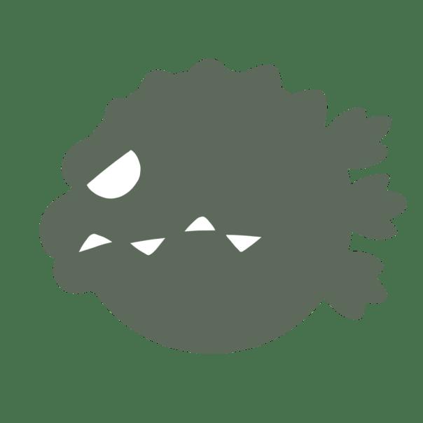 tête cartoon de godzilla