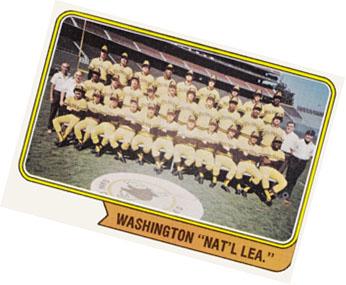Washington Nat'l Lea. Topps 1974 team card