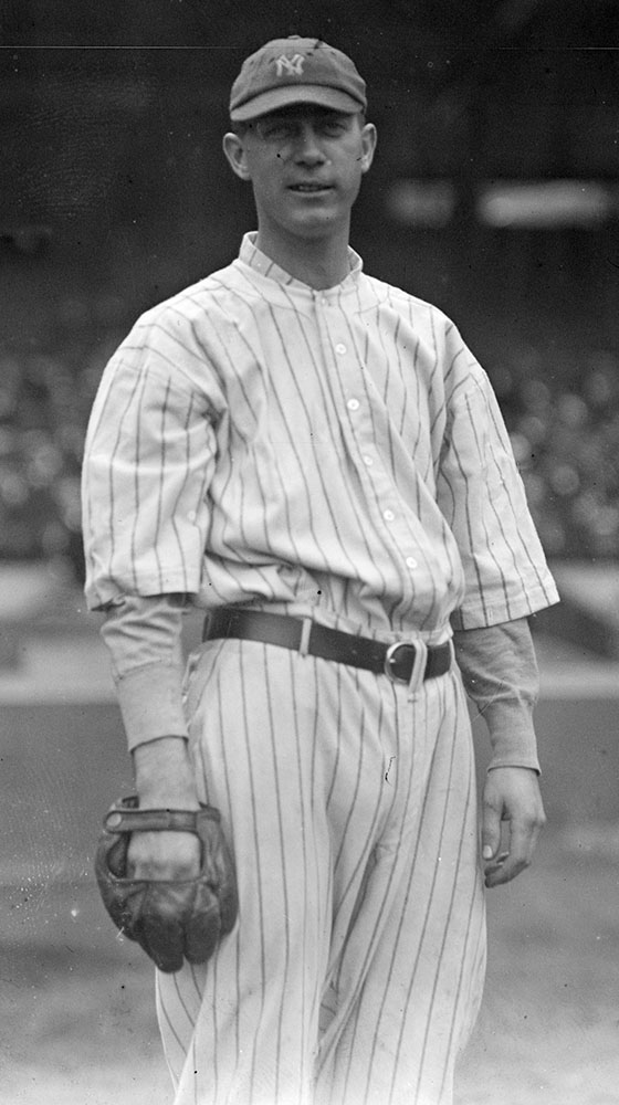 George Mogridge threw the New York Yankees' first no-hitter in 1917, a 2-1 win over the Boston Red Sox.