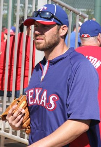 Colby Lewis by Mike LaChance under license CC BY 2.0