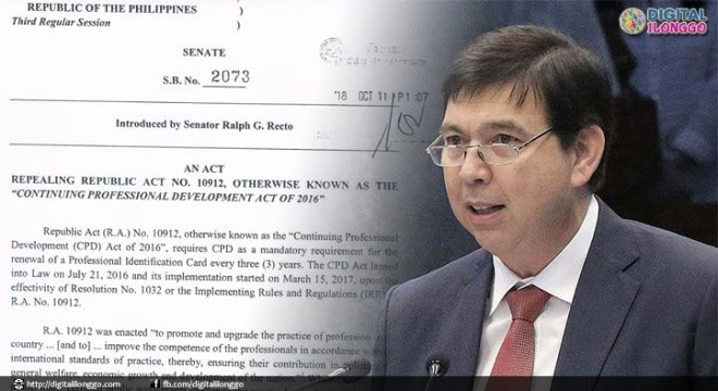 recto repeals cpd